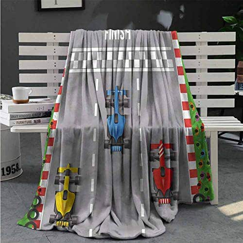RenteriaDecor Boys Room Personalized Blanket Car Race Formula One Comfortable and Warm Beach Blanket Great Gifts to Your Family,Friends,Kids