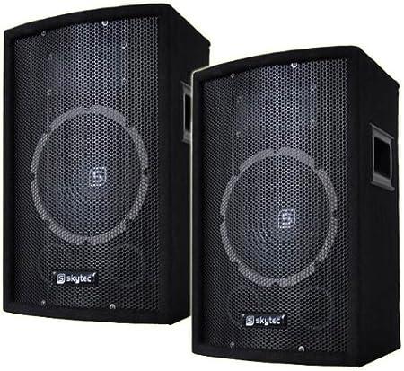 DJ/PA Juego de mesa de mezclas + Amplificador + Cajas + accesorios: Amazon.es: Instrumentos musicales