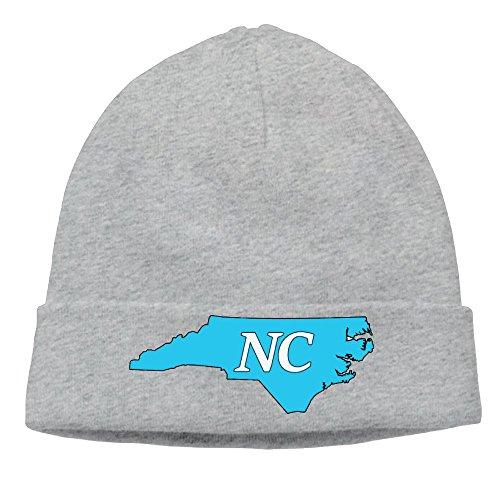 Richard Lyons Mens North Carolina State Outline Soft Skiing Ash Beanies Hat