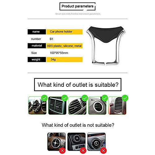 Car Phone Mount,Gravity Cell Phone Holder for car Air Vent Car Phone Holder Universal Car Cradle Mount Compatible iPhone Xs MAX/X/8/7, Galaxy Note 9/S9 Plus/S8/S7 by Licupiee (Image #5)
