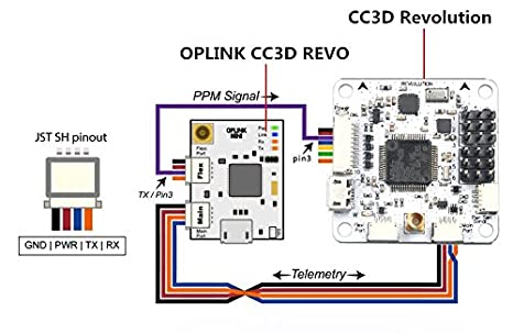 amazon com: openpilot oplink mini cc3d revo universal transceiver tx rx  module integrating remote controller for rc drone: toys & games