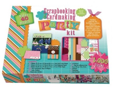 Scrapbooking & Cardmaking Party Kit 1000 Pieces