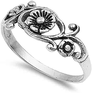 CloseoutWarehouse Swirl Abstract Cubic Zirconia Ring Sterling Silver Size 7