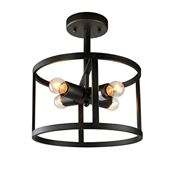 Lnc modern 4 light semi flush mount ceiling light drum ceiling lnc modern 4 light semi flush mount ceiling light drum ceiling lights aloadofball Choice Image