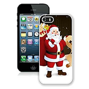Hot Sell Iphone 5S Protective Cover Case Santa Claus iPhone 5 5S TPU Case 34 White