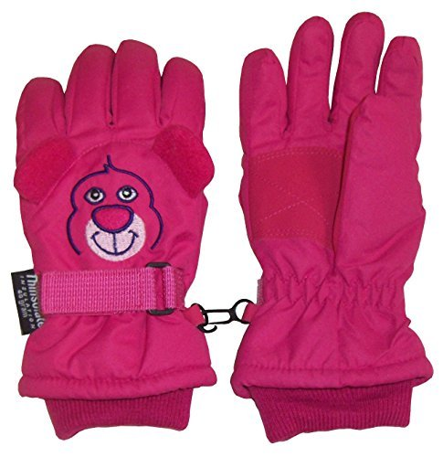 N'Ice Caps Kids Cute Animal Faces Cold Weather Thinsulate Waterproof Gloves