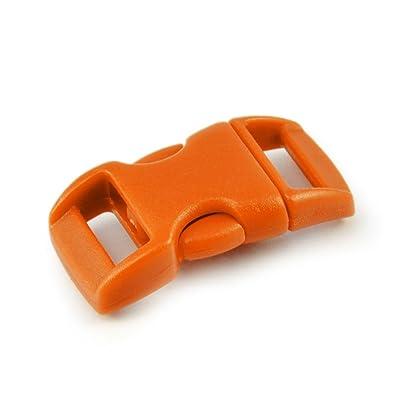 'Fermeture à clic Lot de 15à douille 3/8(10mm de large) à douille en plastique/Fermoir à clip/No/fermeture pour Paracord ärmbänder, colliers de chien, sac &agra