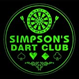 4x ccts1126-g SIMPSON'S Dart Club Game Room Bar Beer 3D Engraved Drink Coasters