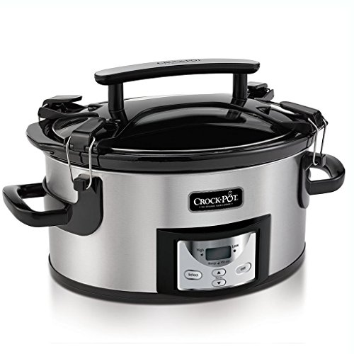Crock-Pot Cook and Carry Cooker with Digital Control 6 Qt Silver
