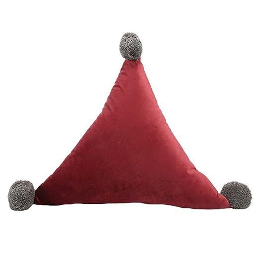 Qinlee triangular Cojín peluche juguete grandes triangular ...