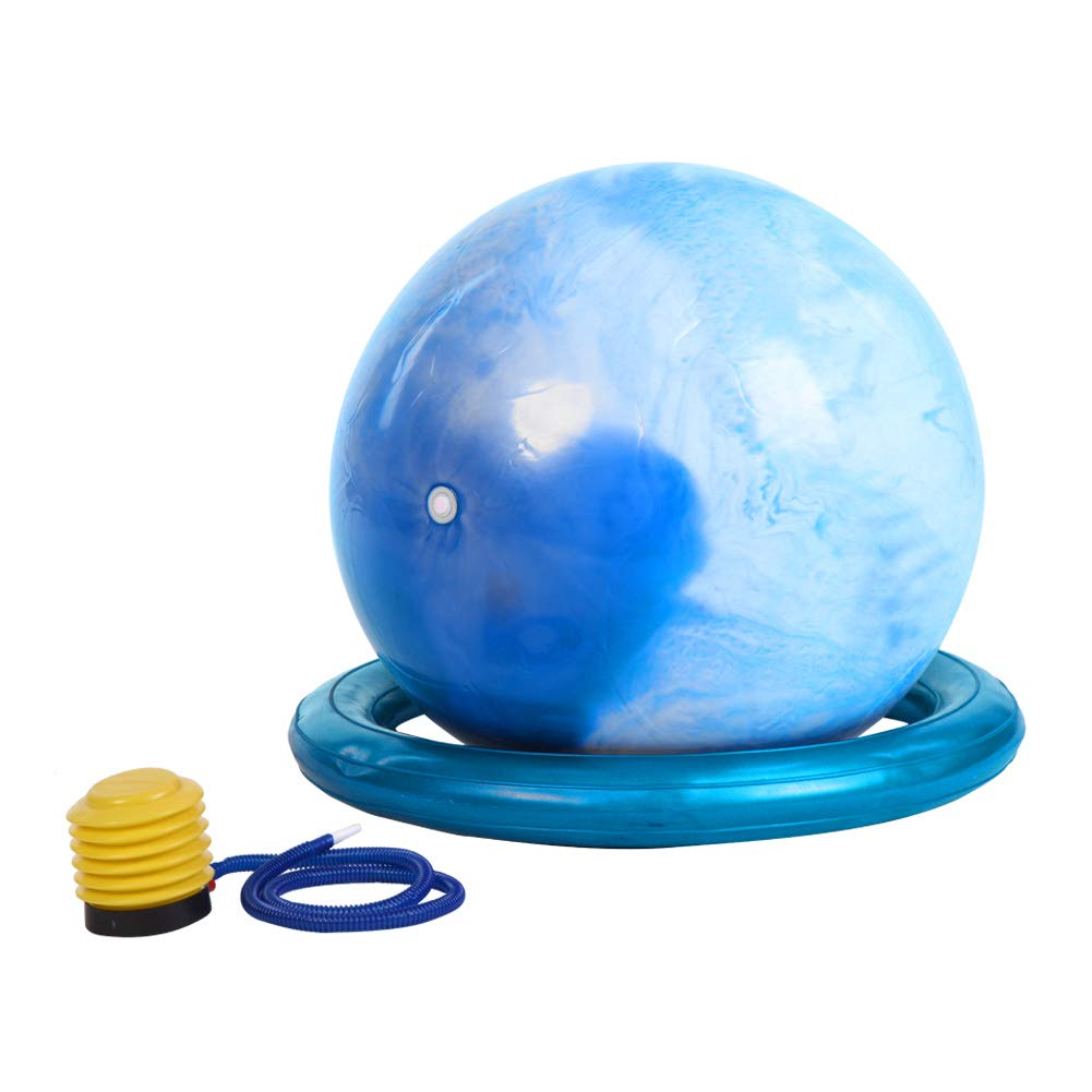 Cocoarm Gymnastikball Fitness-Ball Sitzball Yogaball Pilates-Ball Balance Fitness Yoga Core 65 cm, Maximalbelastbarkeit bis 500kg, berstsicher, 3 Farbe 3 Farbe (Blau) Wizerry
