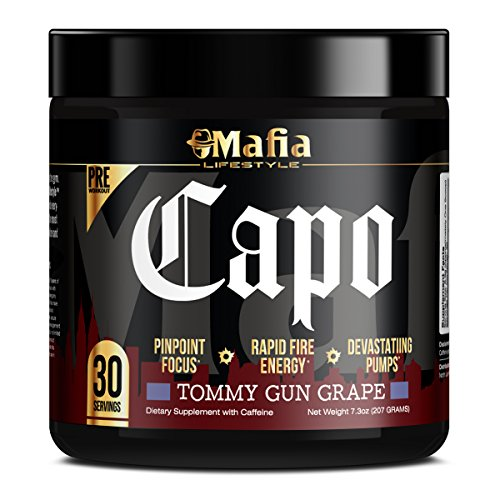 Mafia Lifestyle Capo - Extreme Preworkout with Creatine for Energy and Focus