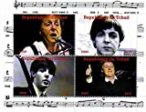 The Beatles stamps - Paul McCartney - 4 photos of the legendary Beatle - Mint and never mounted sheet with 4 stamps