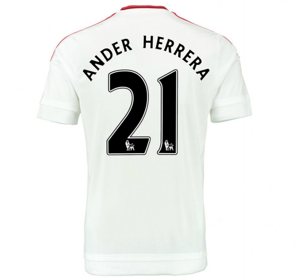2015-2016 Man Utd Away Football Soccer T-Shirt Trikot (Ander Herrera 21) - Kids