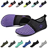 EASTSURE Snorkeling Shoes Water Sport Shoes Aqua Socks for Men Women Beach Swim Surf Yoga Purple 42-43