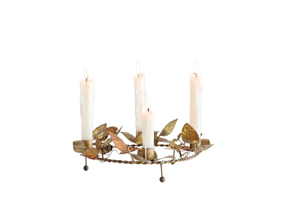 Rustic Metal Advent Wreath Candle Holder Creative Co-Op
