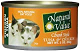 Natural Value Chunk Style Chicken & Tuna Cat Food, 3 Ounce Cans (Pack Of 24)
