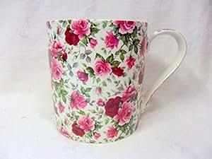 Jumbo Taza de porcelana con diseño de verano diseño de flores.