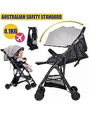 Baby City Tour Stroller Pram Compact Light Weight Folding Toddler Strollers Carrier Travel Umbrella Jogger (Gray)