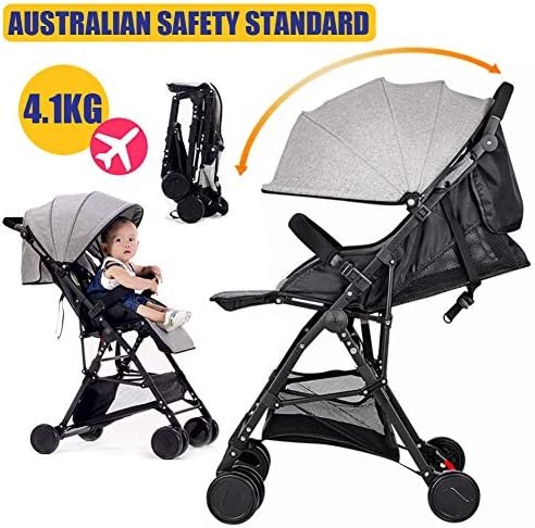 Baby Safe City Tour Stroller Carriage Pram Compact Lightweight Folding Toddler Strollers Carrier Travel Umbrella Jogger Gray Amazon Com Au Baby