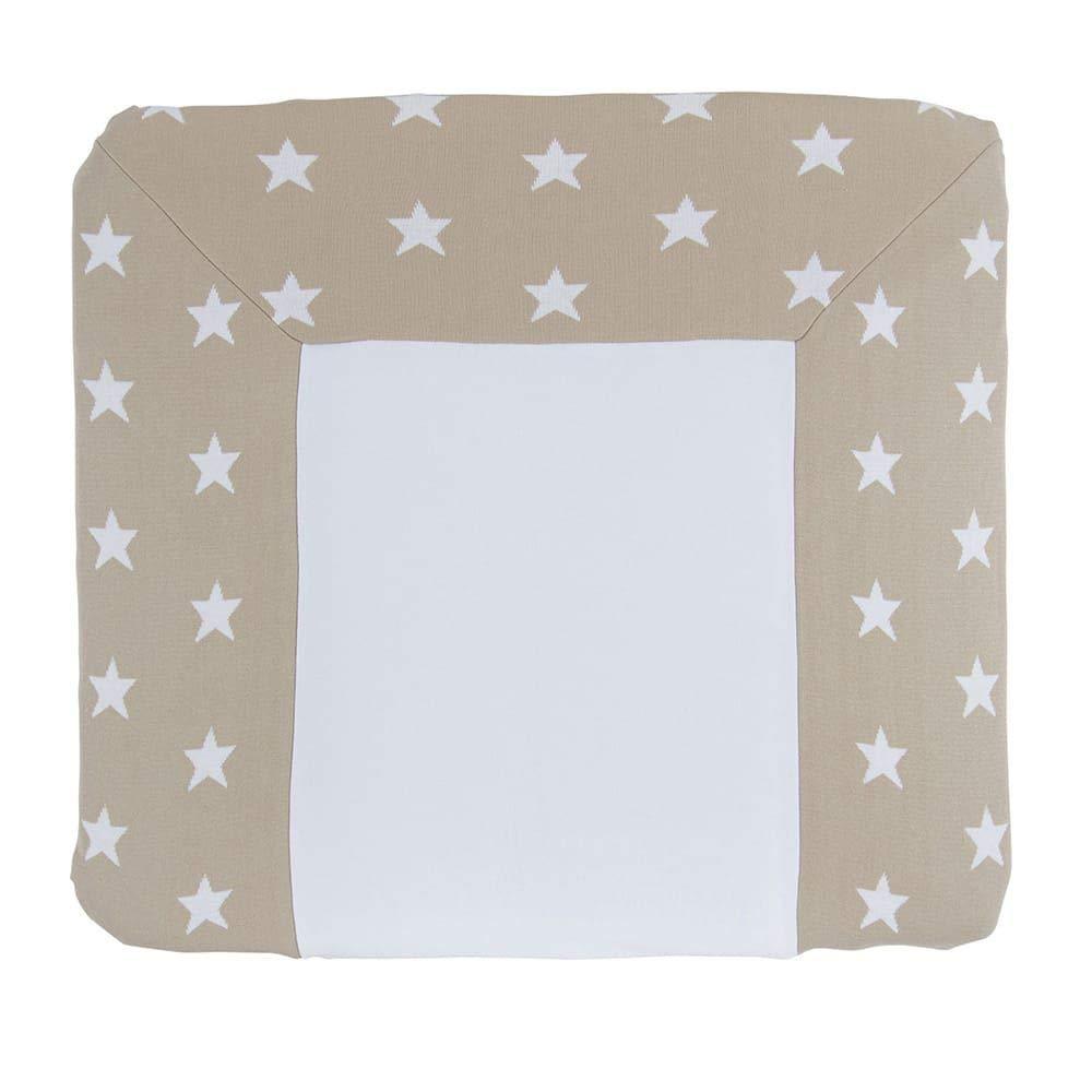 BO BABYS ONLY Wickelauflagenbezug 75x85 Star beige//wei/ß