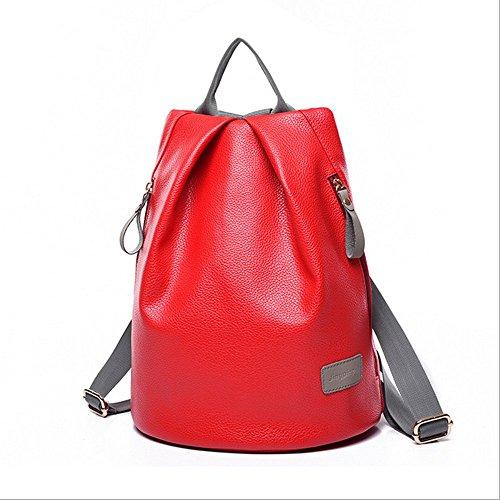Eysee - Bolso mochila  de poliuretano para mujer Red