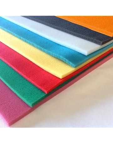 Espuma poliuretano de diferentes colores en plancha