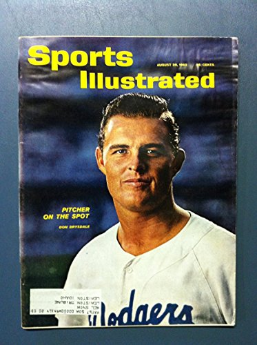 1962 Sports Illustrated August 20 Don Drysdale Fair to Poor [[Heavy moisture - readable]]