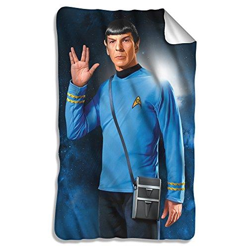 Star Trek 1960S Sci Fi Action Tv Series Spock Salute Fleece Blanket