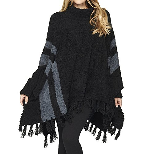 Barefoot Dreams Cozychic Beach Poncho Midnight/Slate Blue by Barefoot Dreams