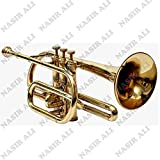 eMusicals Cornet Bb Pitch With Free Hard Case And Mouthpiece, Brass