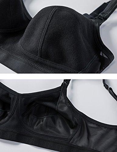 Gratlin Noir D'allaitement Femme Soutien Dos Coton Taille Maille En Grande gorge TvTrnxF