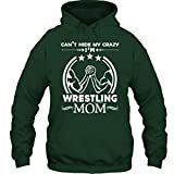 Wrestling Cool T-Shirt - Wrestling Mom Tee Shirt Gift For Friends Hoodie (S,Forest)