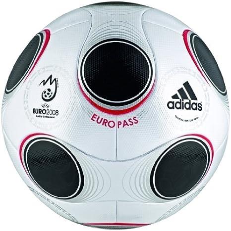 adidas EURO 08 EUROPASS Match Balón de fútbol, tamaño 5, Metallic ...