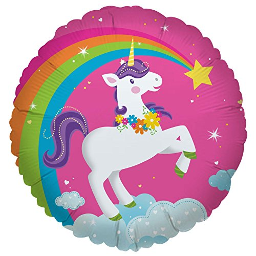 Fairytale Unicorn Party Supplies - Foil Balloons (Easy To Make Fairy Tale Costumes For Adults)