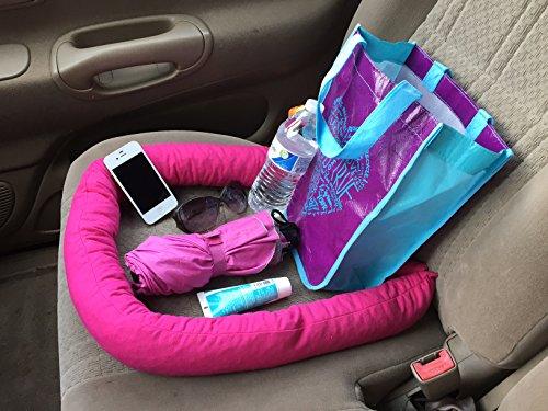 Seat-Snake Car Truck Seat Storage Organizer Holder Containment NO Slip/Slide-off! (Fuchsia) ()