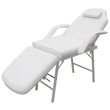 Lettino Estetista Pieghevole Usato.Vidaxl Sedia Da Massaggio Portatile Similpelle Crema 3 Zone Lettino Estetista