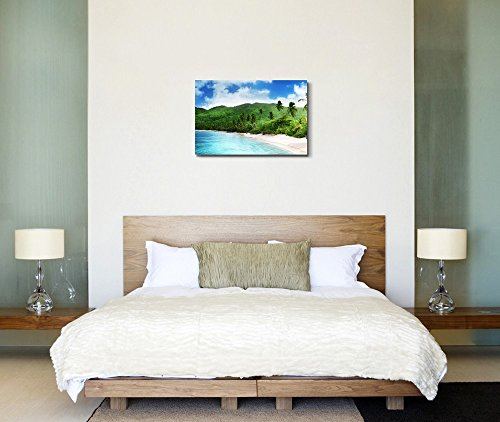 Beautiful Seascape Beach in Sunset Time on Mahe Island Seychelles Home Deoration Wall Decor ing