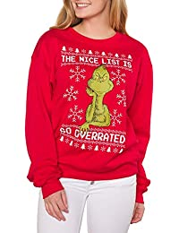 Juniors Nice List Holiday Graphic Crewneck Sweatshirt