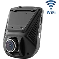 Car Dash Cam WiFi Liwithpro 2.45 LCD FHD 1080P 170 Degree Wide Angle Dashboard Camera Recorder with Night Vision G-Sensor WDR Loop Recording