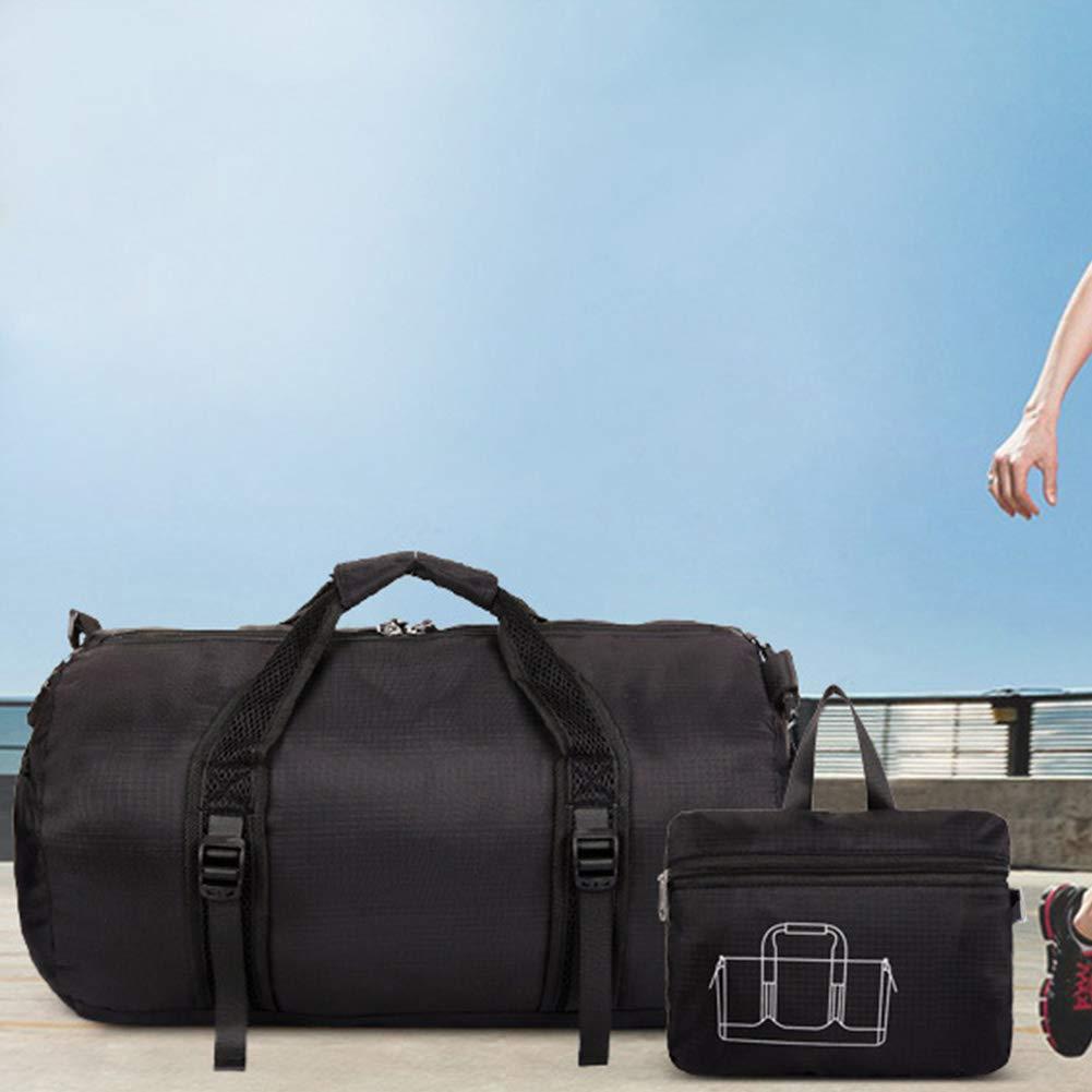 uomo leggero resistente nylon all aperto e palestra fitness sport borsa pacchetto grande cilindro da viaggio borsa sportiva con tracolla regolabile Fitness da donna sport forniture small Purple