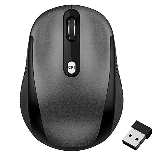 (JETech 2.4Ghz Wireless Mobile Optical Mouse with 3 CPI Levels and USB Wireless Receiver (0770))