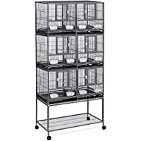 Grid Points Wide Bird cage can accommodate 3-4 with Four 360 Degree Rotation of The Spherical Wheel is Suitable for…