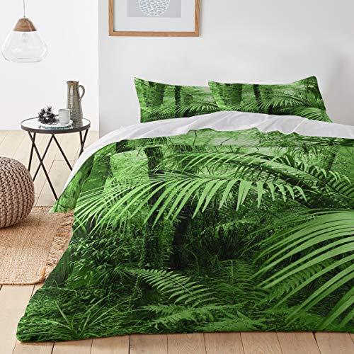 (Shrub Fern Forest Green Jungle Landscape Rainforest Queen(90