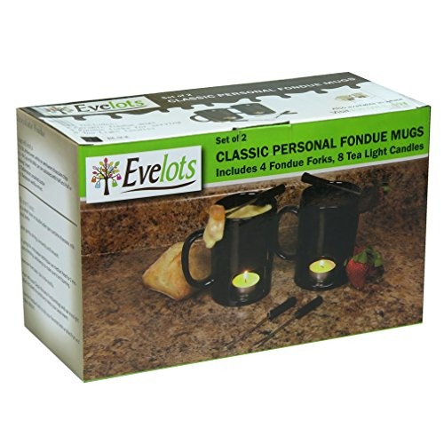 Evelots Fondue Mugs,2 Mugs,4 Forks & 8 Votive Candles-Minor Defects-14 Piece Set by Evelots (Image #6)