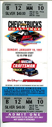 Walt Disney World Speedway-NASCAR Ticket-1/19/1997-unused-Craftsman Truck-VG