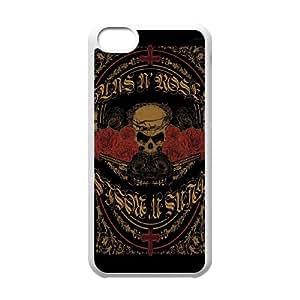 iPhone 5c Cell Phone Case White Guns n Roses JNR2231723