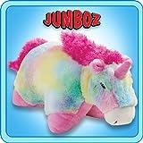 "Pillow Pets Authentic Rainbow Unicorn - 30"" Jumbo Folding Plush Pillow"
