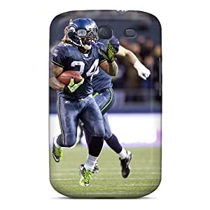 Protection Case For Galaxy S3 / Case Cover For Galaxy(marshawn Lynch Heads For The End Of Zone)