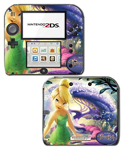 Tinkerbell Princess Friends Fairy Queen Girl Tinker Bell Green Dress Doll Video Game Vinyl Decal Skin Sticker Cover for Nintendo 2DS System Console